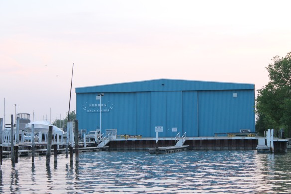 Humbug Too (Rack & Launch) building, accommodating boats as large as 42 feet